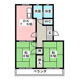 サキュレント樹 A[1階]の間取り