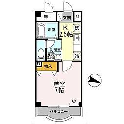 岩田マンション[1階]の間取り