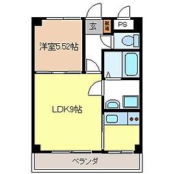 長野県長野市大字三輪の賃貸マンションの間取り