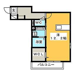 Victoire(ヴィクトワール) 2階ワンルームの間取り