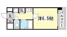 リーガル新神戸[406号室]の間取り