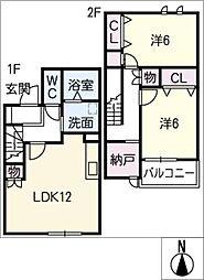 [タウンハウス] 愛知県名古屋市中村区日比津町1丁目 の賃貸【/】の間取り