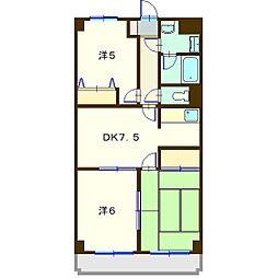 メ・ジャ−モ広町II[5階]の間取り