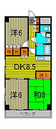 ひまわりマンション[5階]の間取り