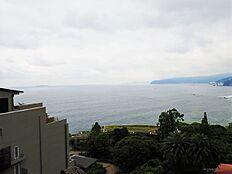 見渡せる青い海の美しい風景。