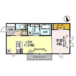 仮称)D-room小坂町北 A棟[305号室]の間取り