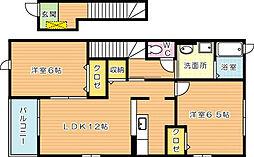フォルテ二島 A棟[2階]の間取り