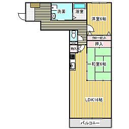 愛知県名古屋市港区小碓2の賃貸マンションの間取り