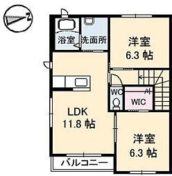 スカイメゾン12番館[2階]の間取り