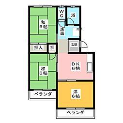 マンションSI[2階]の間取り