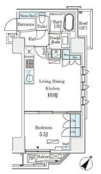 JR総武本線 馬喰町駅 徒歩4分の賃貸マンション 10階1LDKの間取り