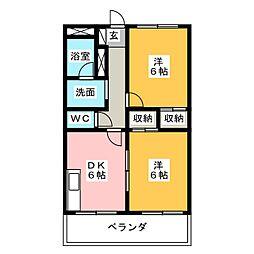 フォルテ21[2階]の間取り