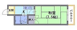 長岡ロイヤルパレス[4階]の間取り