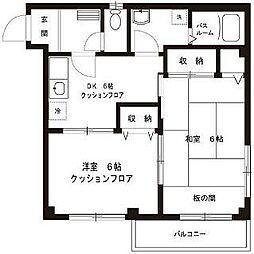 東京都杉並区上荻4丁目の賃貸アパートの間取り