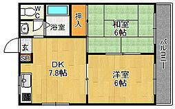 レグルス甲子園[102号室]の間取り