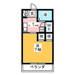 UBU山王ハイツA[1階]の間取り