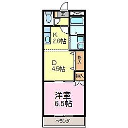 ローズガーデン青山[203号室]の間取り
