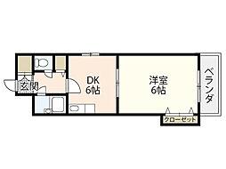リバーサイド堺町[4階]の間取り