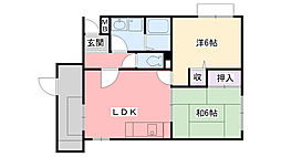 夙川プラザガーデン[102号室]の間取り