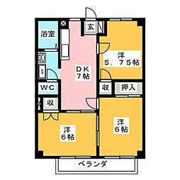 ニューシティカーム[2階]の間取り