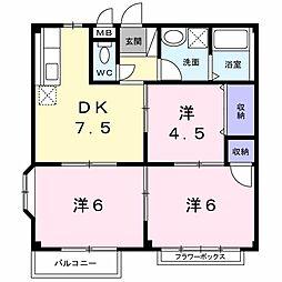 エルディム蔀3[2階]の間取り