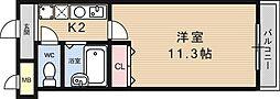 カーサ椥辻[205号室号室]の間取り