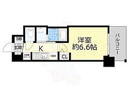 Osaka Metro御堂筋線 西中島南方駅 徒歩10分の賃貸マンション 12階1Kの間取り