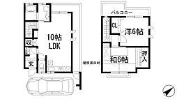[テラスハウス] 兵庫県宝塚市逆瀬川2丁目 の賃貸【/】の間取り