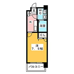 アクアシティ大博通り[6階]の間取り