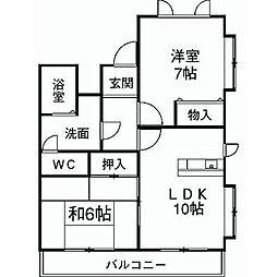 ランパート宝ヶ丘[1階]の間取り