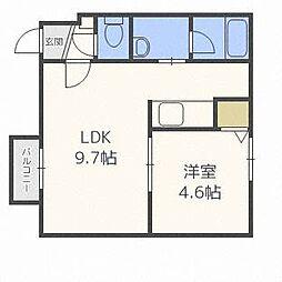 オルセー厚別中央II A[3階]の間取り