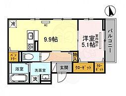 (仮称)D-room甲子園口4丁目 3階1DKの間取り
