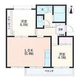 マンション赤関[1階]の間取り