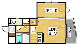リーガル・エクセレント[2階]の間取り