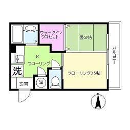 中山ファーム ガーデン棟[306号室]の間取り