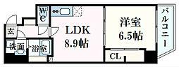 八丁堀iBLD. 6階1LDKの間取り