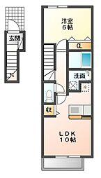 Seis豊潤 B棟[2階]の間取り