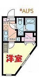 クレージュ南太田 1階1Kの間取り