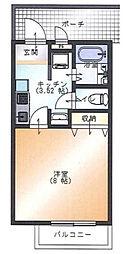 神奈川県厚木市及川2丁目の賃貸マンションの間取り
