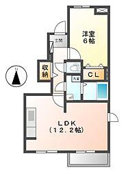 クリムゾンパレスI・II[1階]の間取り