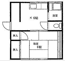 木下アパート[202号室]の間取り