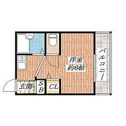 第二華岡マンション[3階]の間取り
