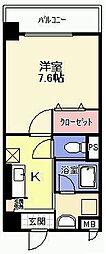 アンビシャス江崎[1階]の間取り