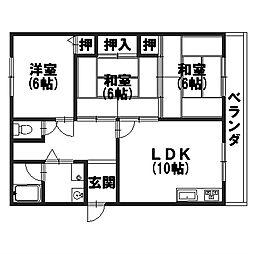 ハイツナカムラII[303号室]の間取り