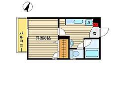 東京都世田谷区喜多見9丁目の賃貸マンションの間取り