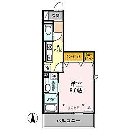 (仮)オッツ内ケ島[201号室]の間取り