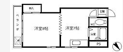 神奈川県横浜市中区大平町の賃貸アパートの間取り