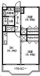 フェニックスマンション B棟[202号室]の間取り