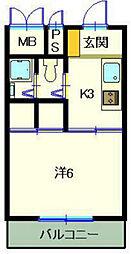 第6みぞたコーポ[2階]の間取り