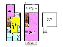 [テラスハウス] 愛知県東海市富木島町伏見1丁目 の賃貸【/】の間取り